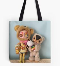 Blythe and toys field kuma  Tote Bag