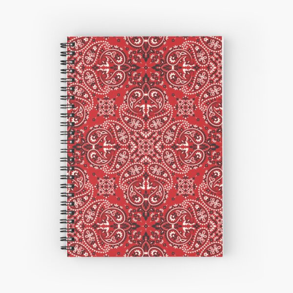 Bandana style print Spiral Notebook