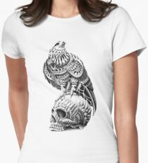 Red-Tail Skull Women's Fitted T-Shirt