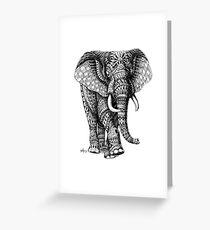 Ornate Elephant v.2 Greeting Card