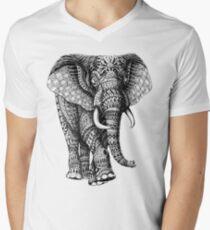 Camiseta para hombre de cuello en v Ornate Elephant v.2