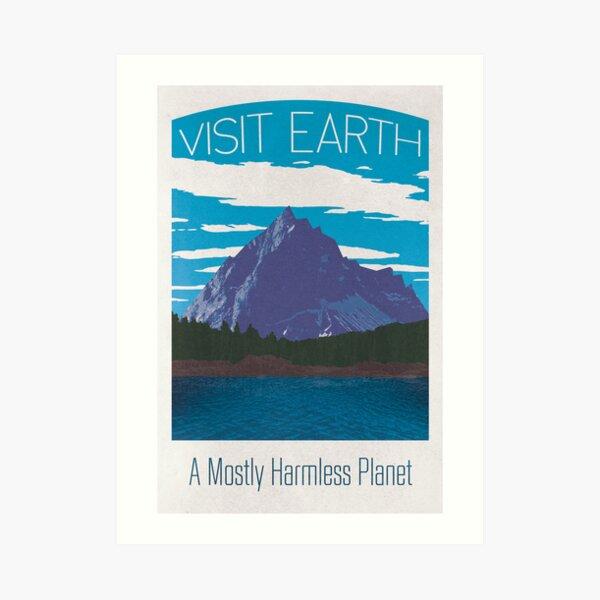 Earth Travel Poster Art Print