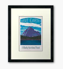 Earth Travel Poster Framed Print