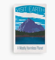 Earth Travel Poster Canvas Print