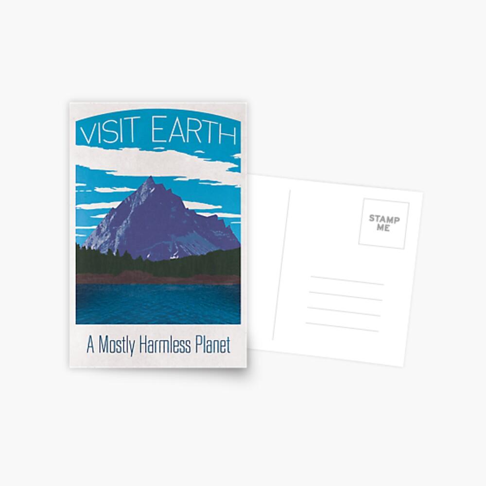 Earth Travel Poster Postkarte