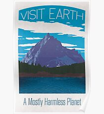 Earth Travel Poster Poster