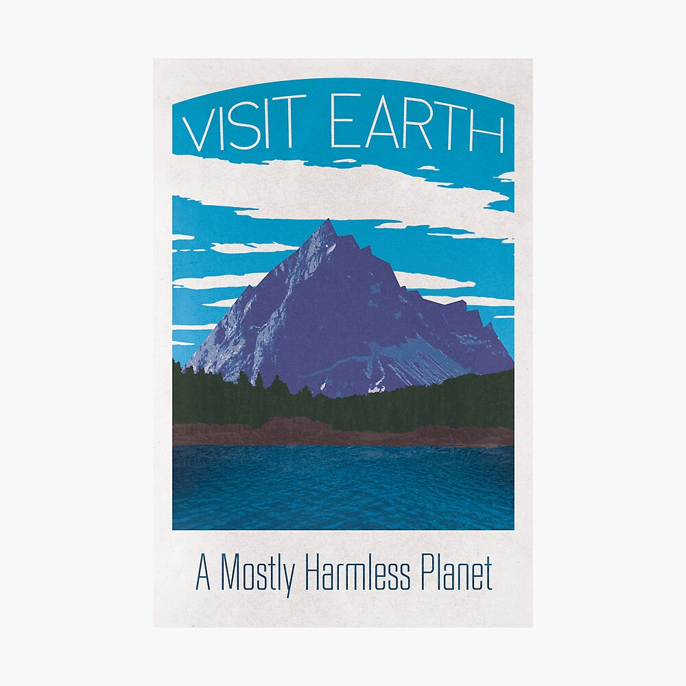 Earth Travel Poster Fotodruck