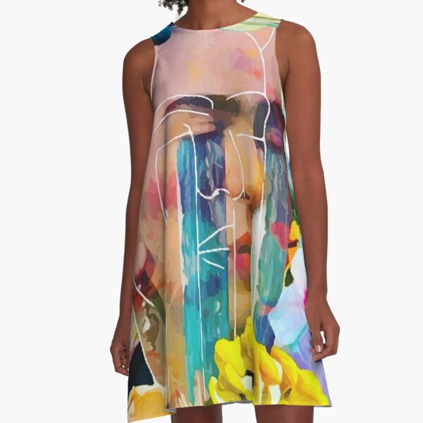 Crying Water  A-Line Dress