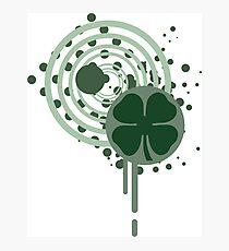 hi-fi four leaf clover  Photographic Print