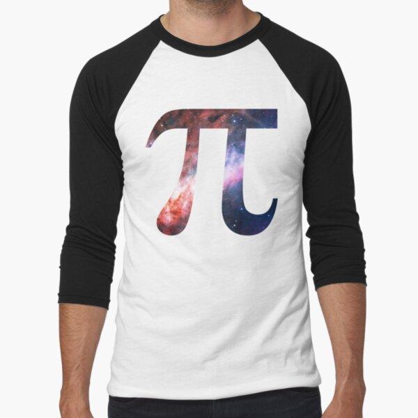 Pie Symbol 3.14 [Omega Nebula] | Mathematix Baseball ¾ Sleeve T-Shirt