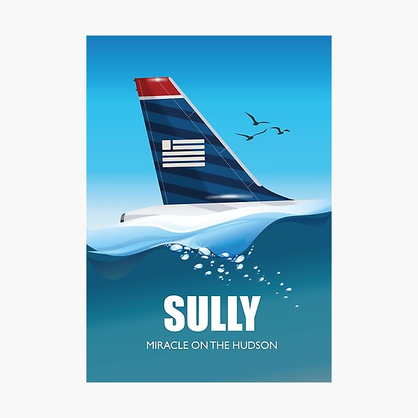Sully: Miracle on the Hudson - Alternative Movie Poster Photographic Print