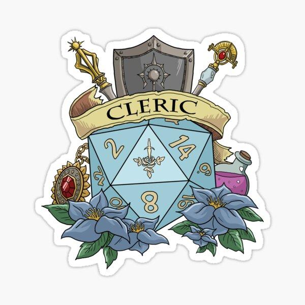 Dice Cleric Sticker