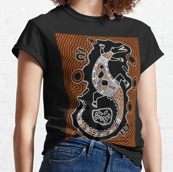 Authentic Aboriginal Art - Crocodile  Classic T-Shirt