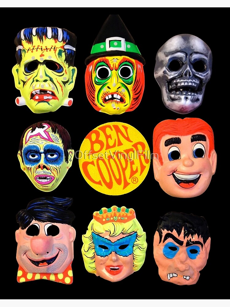 Ben Cooper Halloween Masks.Vintage Ben Cooper Halloween Masks Art Board Print By Offsetvinylfilm Redbubble