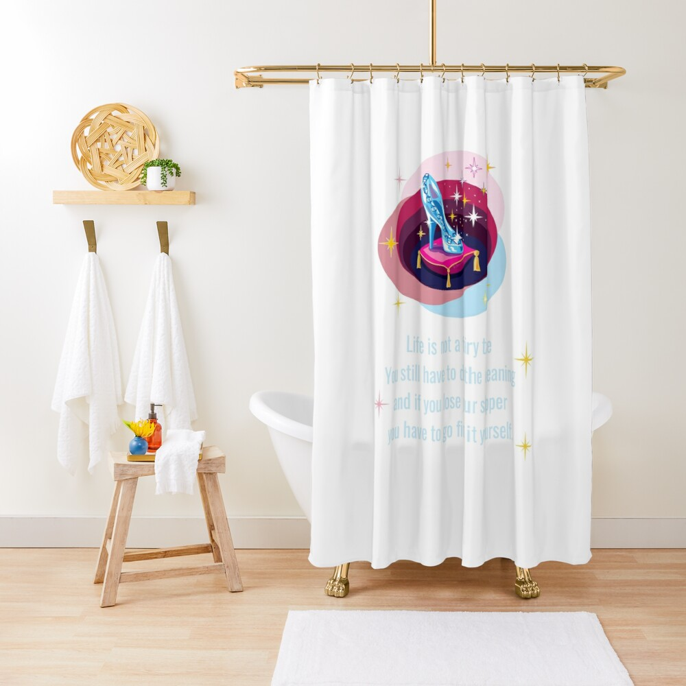Glass Slipper, Busy Mom Reality Check Shower Curtain