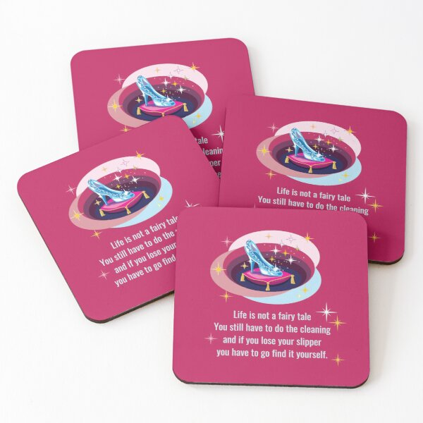 Glass Slipper, Busy Mom Reality Check Coasters (Set of 4)