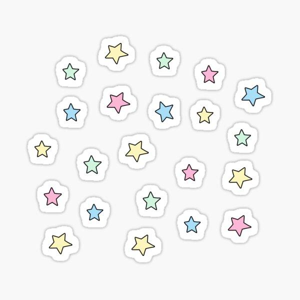 Paquete mini estrella pastel Pegatina