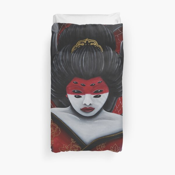 Jorōgumo - The spider woman Duvet Cover