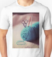 turquoise yarn Unisex T-Shirt