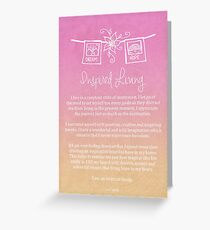 Affirmation - Inspired Living Greeting Card