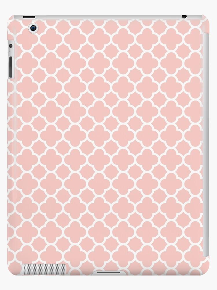 Rose Quartz Pink 2016 Colors Quatrefoil Pattern by TigerLynx