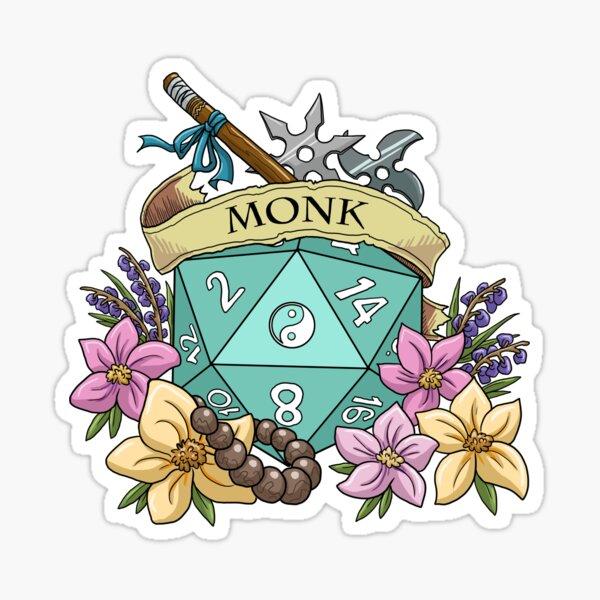 Dice Monk Sticker