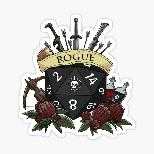 Dice Rogue Sticker