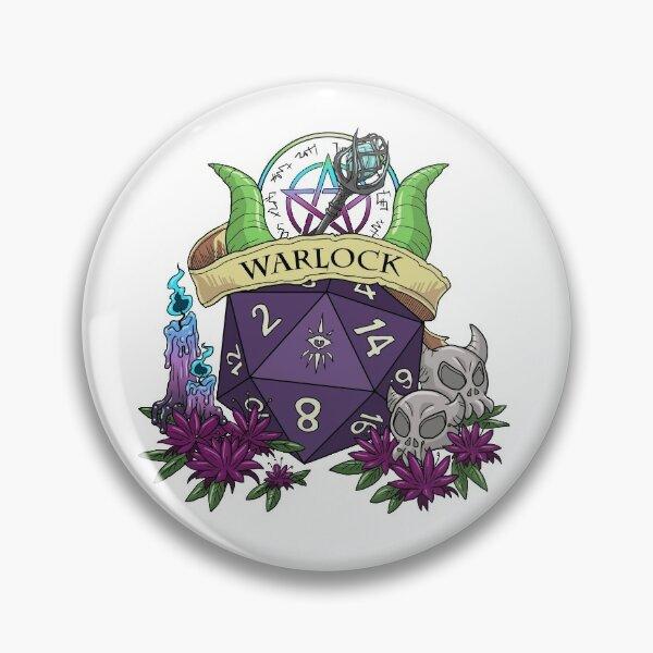 Dice Warlock Pin