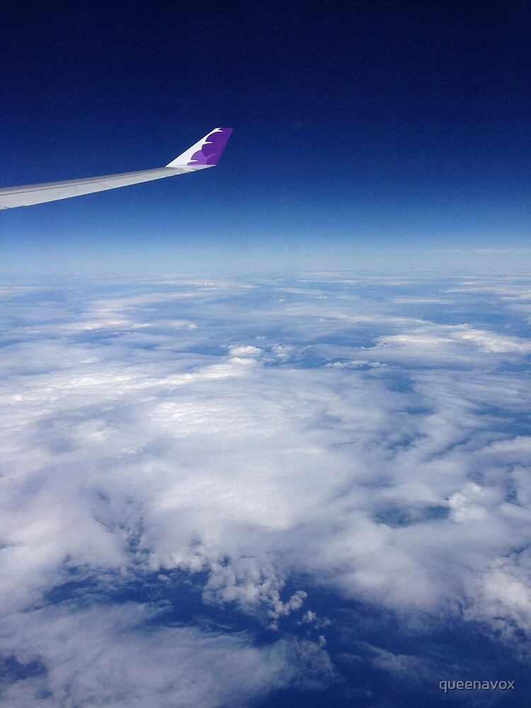 Flying over the pacific by queenavox