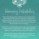 Affirmation - Honouring Individuality by CarlyMarie