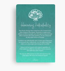 Affirmation - Honouring Individuality Canvas Print