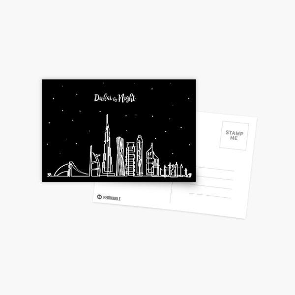 Skyline de Dubai de noche Postal