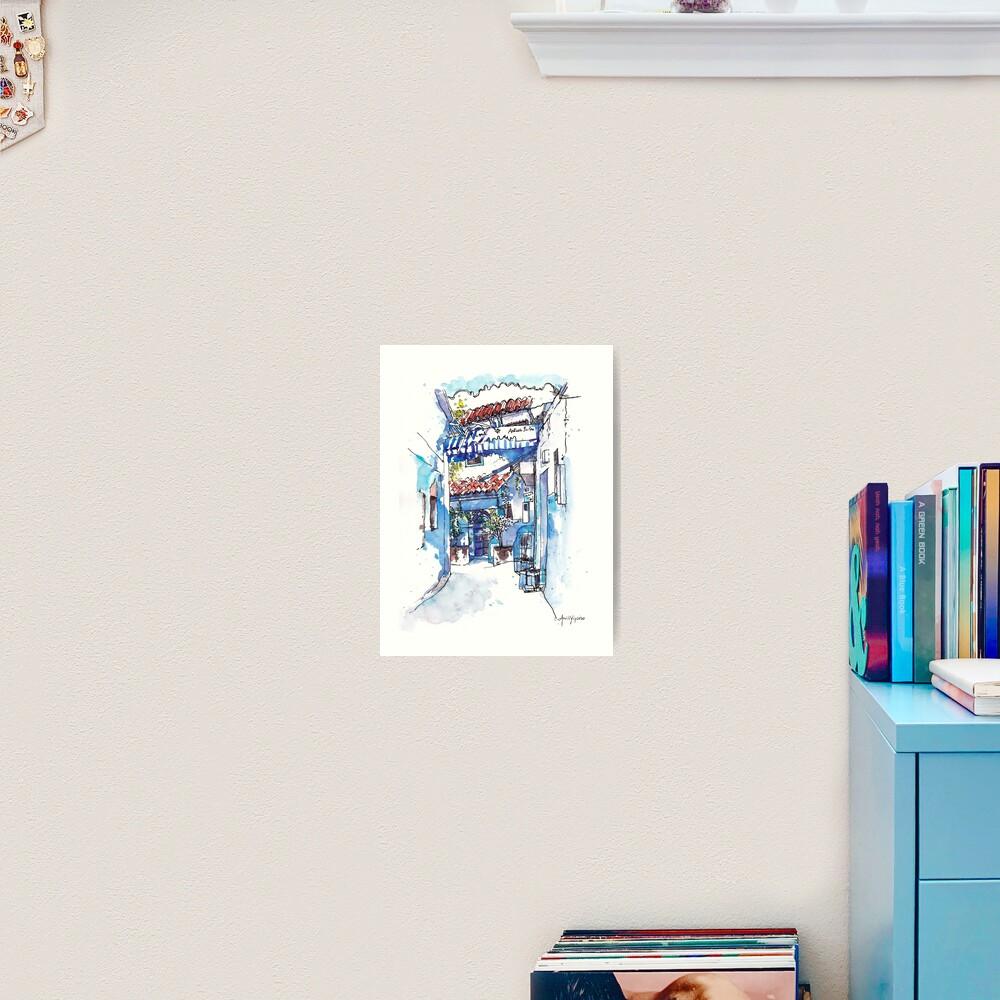 Blue Alley Art Print