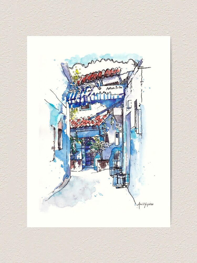 Alternate view of Blue Alley Art Print