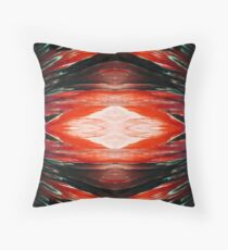 Tangerine Flash Rorschach  Throw Pillow