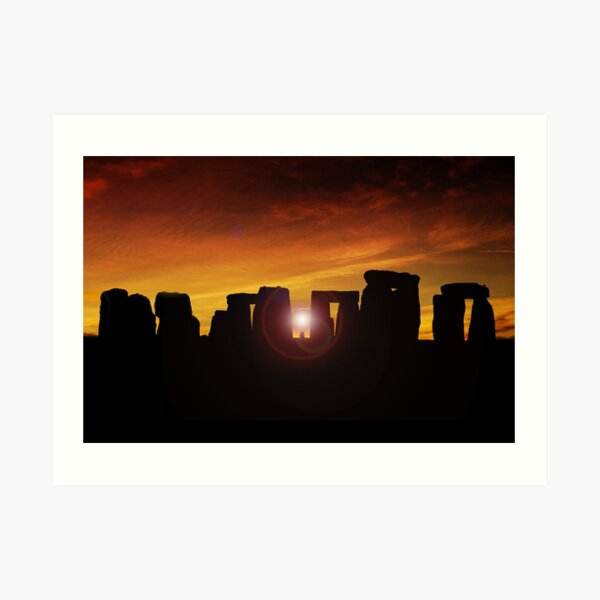 Winter Solstice at Stonehenge Art Print