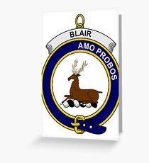 Blair Clan Badge Greeting Card