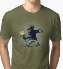 Banksy flower Tri-blend T-Shirt