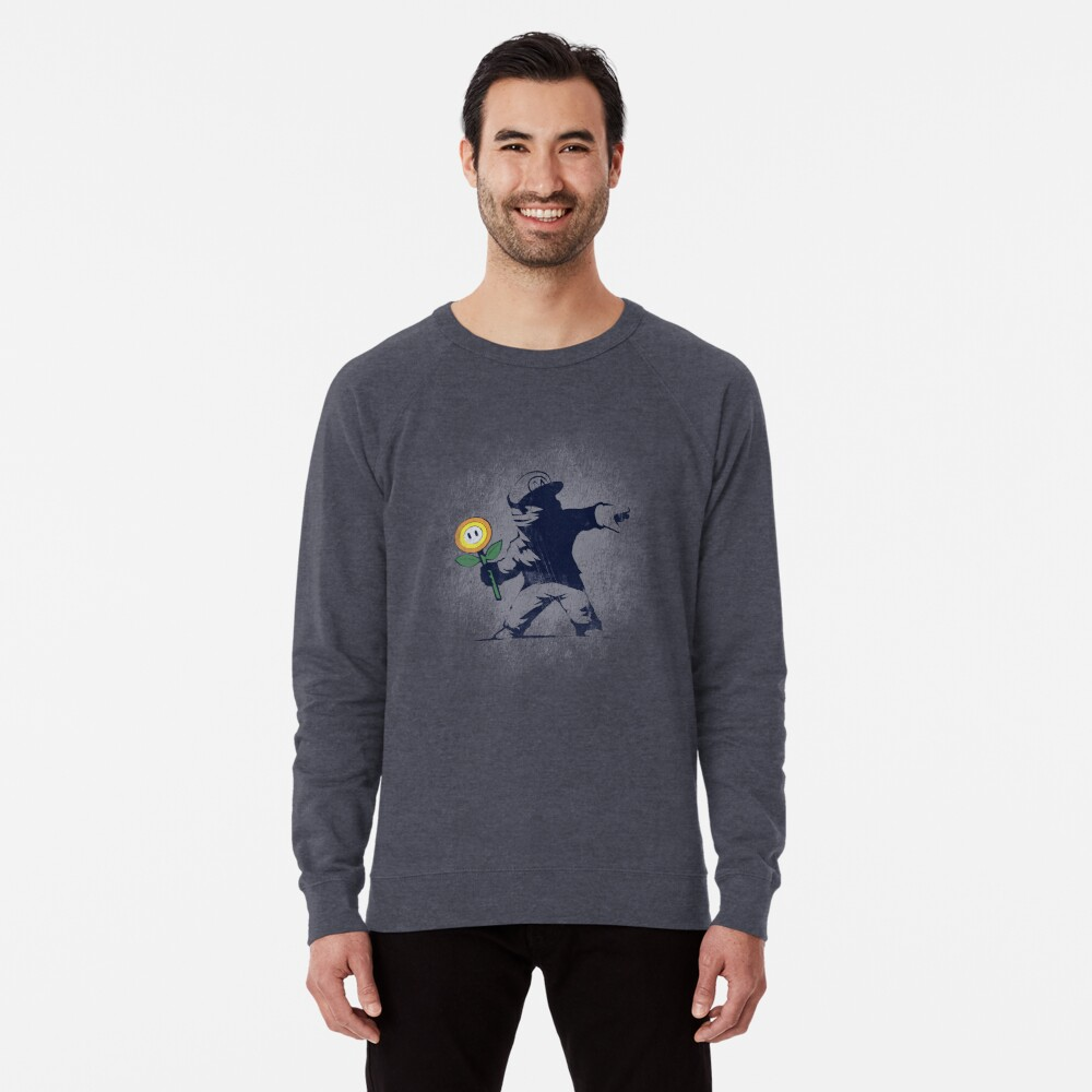 Banksy Blume Leichter Pullover