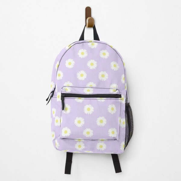 Daisy Lavender Pastel Aesthetic Cute Daisies Flower Cottagecore Backpack