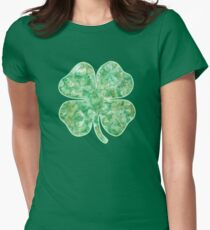 Irish St Patricks Day Shamrock Womens Fitted T-Shirt