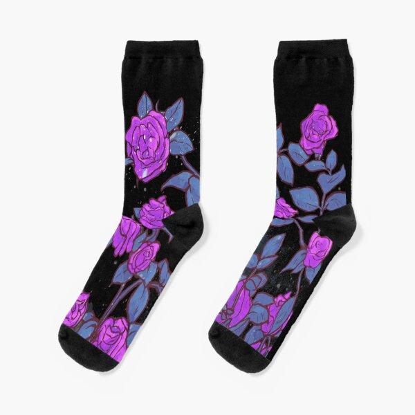 Shekinah Guab X T.Kanero - Purple Roses Socks
