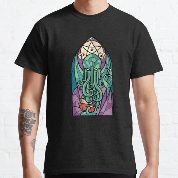 Cthulhu Church Stained Glass Cosmic Horror Classic T-Shirt