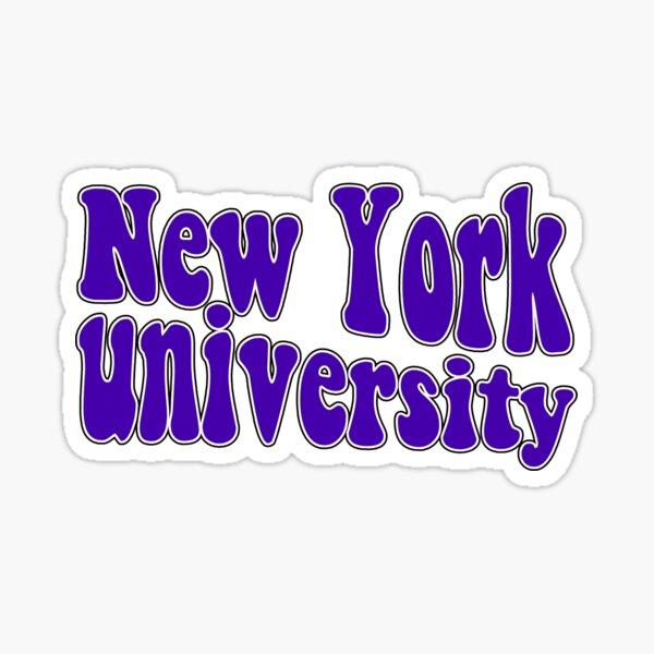 New York University NYU Violets Groovy Logo Sticker
