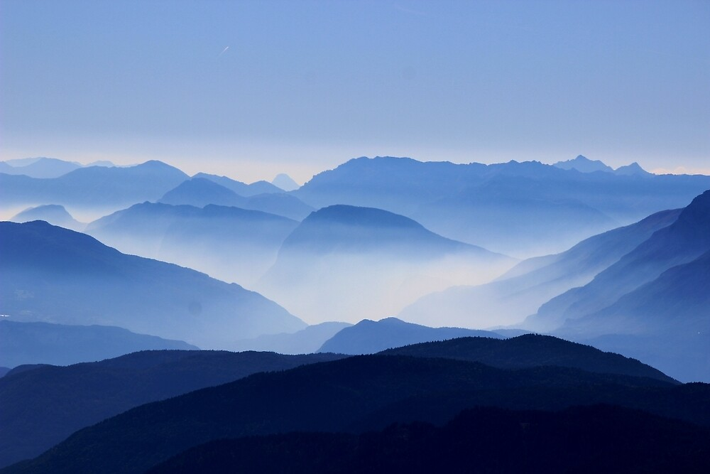 Mountains fog by soid