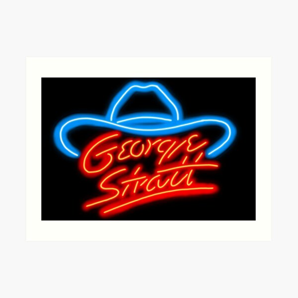 George Strait- the KING of country music Art Print