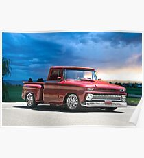 1966 Chevrolet 'Stepside' Pick Up Poster
