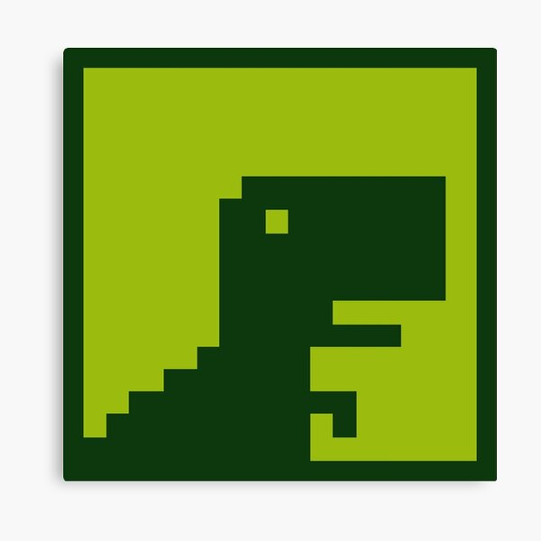 Google Dino Game Wall Art Redbubble