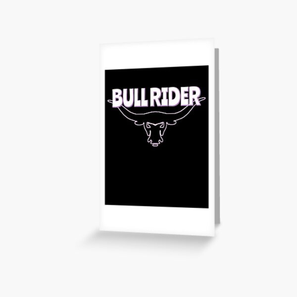 BullRider Hotwife Greeting Card