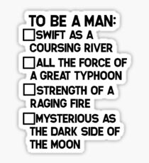 To Be A Man: Sticker